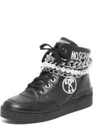 Женские черные высокие кеды от Moschino