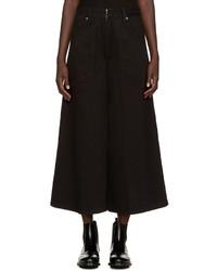 Черные джинсовые брюки-кюлоты