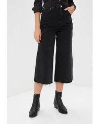 Черные джинсовые брюки-кюлоты от Topshop