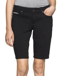 Черные джинсовые шорты-бермуды