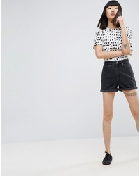 Женские черные джинсовые шорты от Asos