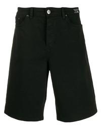 Мужские черные джинсовые шорты от VERSACE JEANS COUTURE