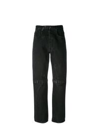 Черные джинсы-бойфренды от Christopher Kane