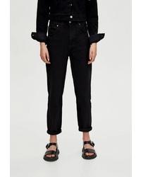 Черные джинсы-бойфренды от Pull&Bear