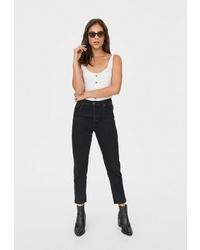 Черные джинсы-бойфренды от Stradivarius