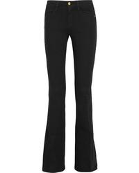 Черные джинсы-клеш