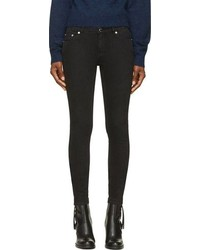 Черные джинсы скинни с принтом от BLK DNM