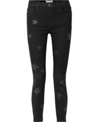 Черные джинсы скинни с принтом от Current/Elliott