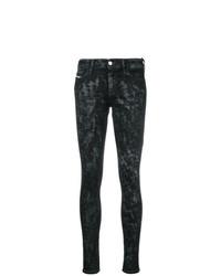 Черные джинсы скинни с принтом от Diesel