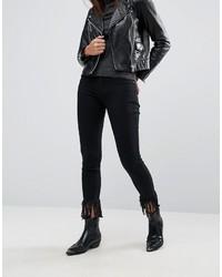 Черные джинсы скинни от Blank NYC