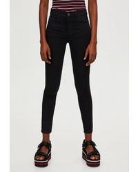Черные джинсы скинни от Pull&Bear