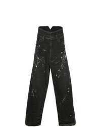 Мужские черные джинсы от Julius