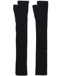 Черные длинные перчатки от Balmain