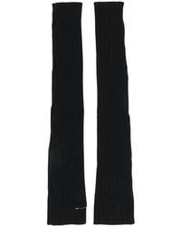 Черные длинные перчатки от MM6 MAISON MARGIELA
