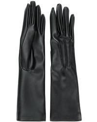 Черные длинные перчатки от Stella McCartney