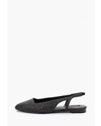 Черные замшевые балетки от Mango