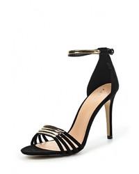 Женские черные замшевые босоножки на каблуке от Aldo