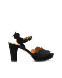 Черные замшевые босоножки на каблуке от Chie Mihara
