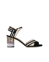 Черные замшевые босоножки на каблуке от Nicholas Kirkwood