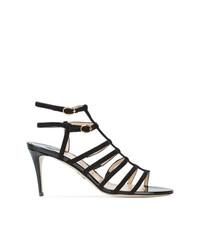 Черные замшевые босоножки на каблуке от Paul Andrew