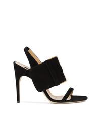 Черные замшевые босоножки на каблуке от Sergio Rossi