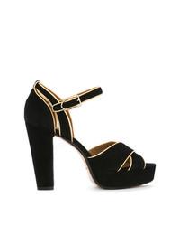Черные замшевые босоножки на каблуке от Sonia Rykiel