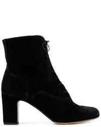 Женские черные замшевые ботильоны на шнуровке от Tabitha Simmons