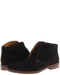 Черные замшевые ботинки дезерты