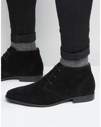 Черные замшевые ботинки дезерты от Asos