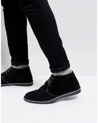 Черные замшевые ботинки дезерты от Silver Street