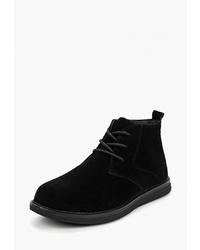 Черные замшевые ботинки дезерты от Vitacci