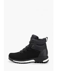 Женские черные замшевые ботинки на шнуровке от adidas