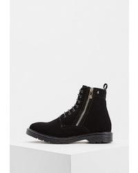 Женские черные замшевые ботинки на шнуровке от Armani Exchange