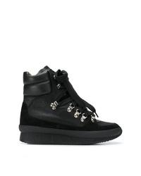 Женские черные замшевые ботинки на шнуровке от Isabel Marant