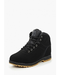 Женские черные замшевые ботинки на шнуровке от Sigma