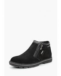 Мужские черные замшевые ботинки челси от Alessio Nesca