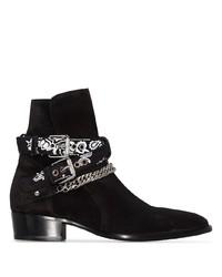 Мужские черные замшевые ботинки челси от Amiri