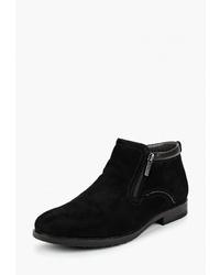 Мужские черные замшевые ботинки челси от Dino Ricci