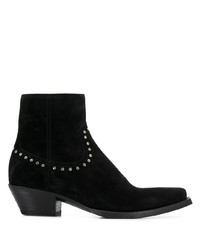 Мужские черные замшевые ботинки челси от Saint Laurent