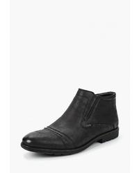 Мужские черные замшевые ботинки челси от T.Taccardi