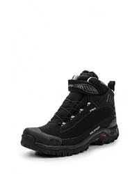 Мужские черные замшевые ботинки от Salomon