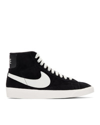 Женские черные замшевые высокие кеды от Nike