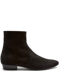 Черные замшевые классические ботинки