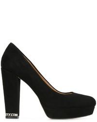 Черные замшевые массивные туфли