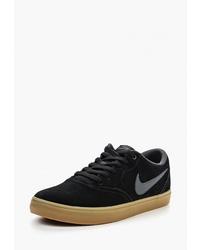 Мужские черные замшевые низкие кеды от Nike