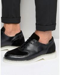 Черные замшевые оксфорды от Zign Shoes