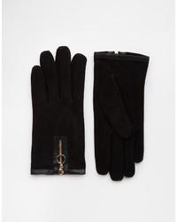 Женские черные замшевые перчатки от Asos