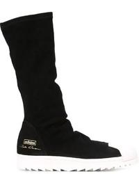 Мужские черные замшевые повседневные ботинки от adidas
