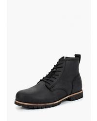 Мужские черные замшевые повседневные ботинки от Affex