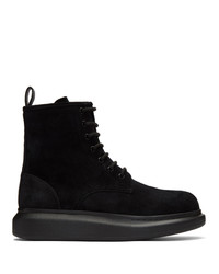 Мужские черные замшевые повседневные ботинки от Alexander McQueen
